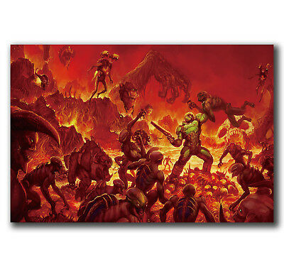 E2985 Art The Ultimate DOOM 4 Game Poster Hot Gift -24x36 40inch