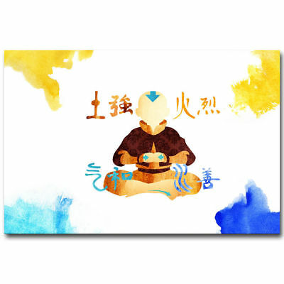 Hot Gift Poster For Avatar The Last Airbender Animation Fish 40x27 36x24 F-1595