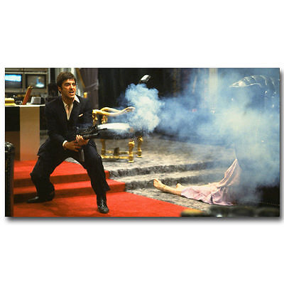 Art Scarface Classic Movie Print Al Pacino Canvas Fabric Poster 1216