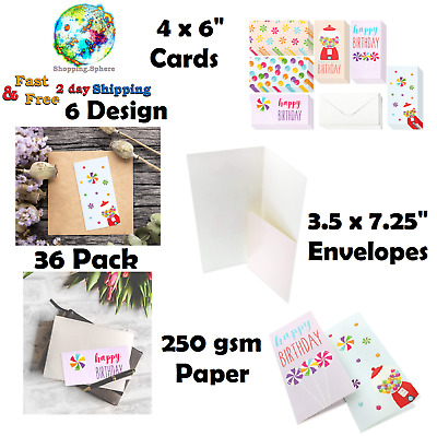 Happy Birthday Money Cards Envelopes Greeting Card Assortment 36 Pack Box Set
