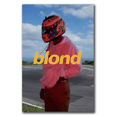 Frank Ocean Blonde Hip Hop Rapper Music Star Poster Fabric 12 20x30 24x36 E-2483