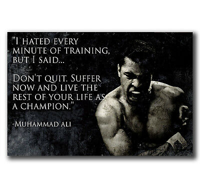 E2528 Art muhammad ali fitness-motivation-ali Poster Hot Gift -24x36 40inch