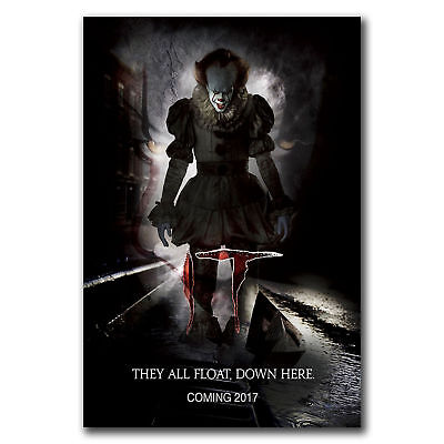 E2626 Art New Movie It Pennywise Stephen King Poster Hot Gift -24x36 40inch