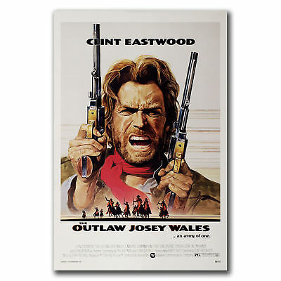 E3009 Art CLINT EASTWOOD the OUTLAW JOSEY WALES Classic WESTERN Poster Hot