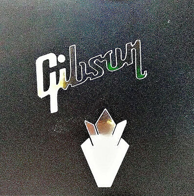 Gibson Guitar Headstock Crown Decal Sticker, OEM, 0.2% Silver Ore Restoration