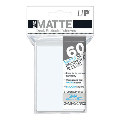 ULTRA PRO Pro-Matte Deck Protector Sleeves WHITE Small Card Size 60ct 62x89mm