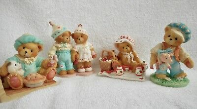 Cherished Teddies -Lot of 4 - Jack Horner, Tom Pipers Son, Thelma, Craig & Cheri