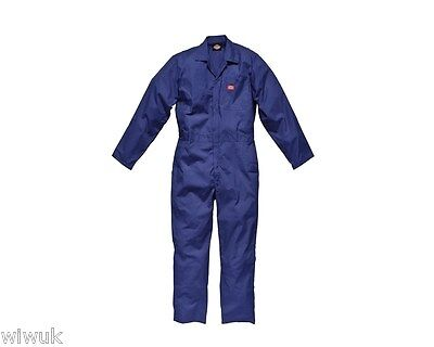 Dickies Deluxe Navy Blue Boilersuit / Overalls / Coverall Small 36-38 Reg / Tall