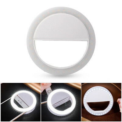 Portable Mini Selfie LED Ring Flash Fill Light Clip Camera Photography for Phone