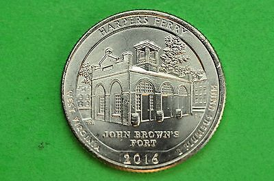 2016-D BU Mint State ( Harpers Ferry ) US National Park Quarter