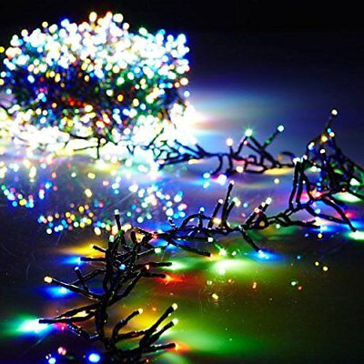 Christmas Cluster Lights Battery Operated 15 Foot Garland with 120 Multi Color -