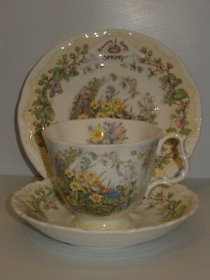 Brambly Hedge Royal Doulton Spring Full Size Trio Cup Saucer Plate 1St Quality