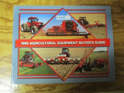 Vintage Case IH 1989 Agriculture Equipment Buyer's Guide AD-60099-E