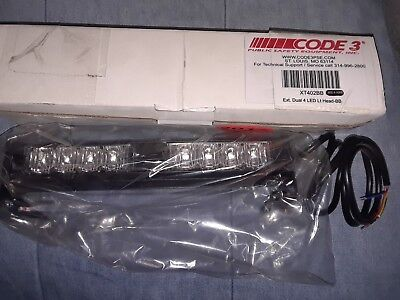 CODE 3 Shrouded Dual Head Dash/Deck Light, XT402BB, Blue color, Ext.