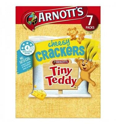 Arnotts Tiny Teddy Crackers Cheese Biscuits 147gm x 8