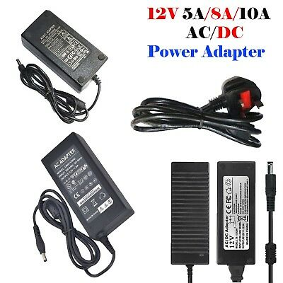 12V 5A/8A/10A Power Supply Adapter CCTV Camera Monitor  2/4/6//8 Power Splitter