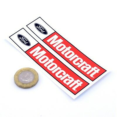 Ford Motorcraft STICKERS Decal Vinyl 100mm x2 Race Racing Rally Stickerbomb
