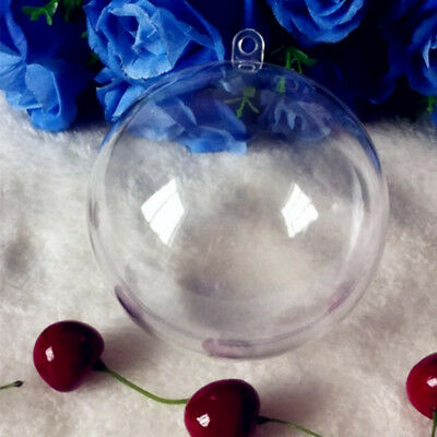 10pcs Christmas Clear Ball  Baubles Fillable Xmas Tree Decoration Ornaments
