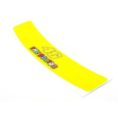 Rossi 46 The Doctor Helmet Visor Sunstrip Sticker Motorcycle Bike YELLOW Decal