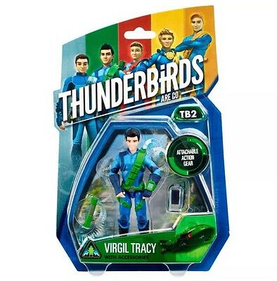 "Thunderbirds Are Go Tv Action Figure 4"" Virgil Tracy With Accessories"