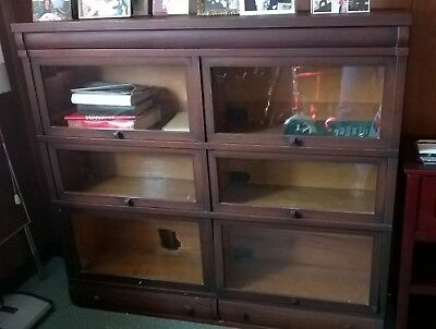 Globe Wernicke Mahogany Sectional Antique Barrister Bookcase
