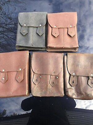Romanian Surplus Leather 4-Cell AK Mag Pouch