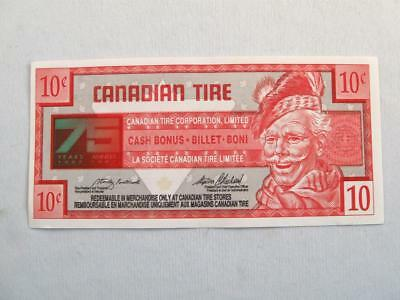 VINTAGE CANADIAN TIRE 1922-1997 75 th YEARS MONEY 10 CENTS NOTE  # 7532541129
