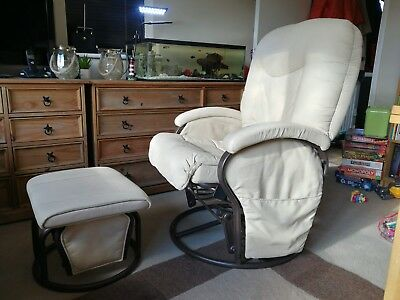 Rocking Nursing Glider Maternity Chair+glider foot stool in immaculate condition