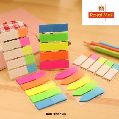 240 Colour Fluro Repositionable Adhesive Sticky Note Bookmark Marker Index Tab