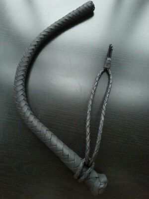 Genuine Leather Short Volchatka Bull whip With A Cable Inside