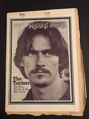 1971 Rolling Stone #76- James Taylor - No Mailing Label ~ Very Nice Condition!