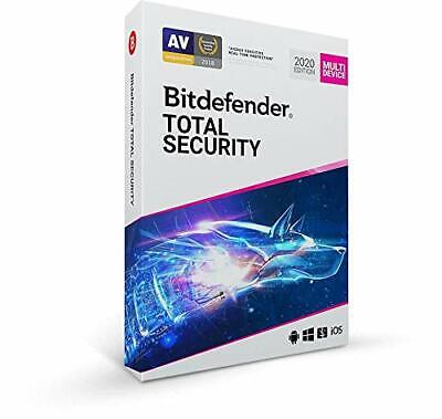 Bitdefender Total Security Multi Device 2019 | 5 Device - 1 YEAR LICENSE.