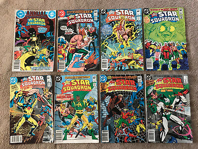 Lot Of 14 Dc All Star Squadron Comics 1982 - 1986 And Annual #3 1984