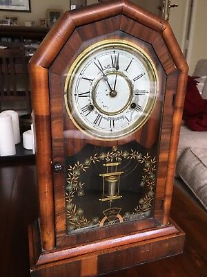 Antique American 1879 8 Day Striking Mantle Clock (Jerome & Co)