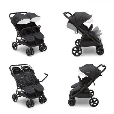 Standard J Is For Brand Destination Ultralight Side X Double Stroller, Midnight