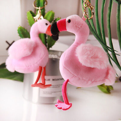 Cute Soft kids gift Pink Plush doll Stuffed Animal toy Key chains Flamingo