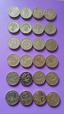 Round £1 One Pound Coin hunt rare Edinburgh, Cardiff, London, Floral, Bridges,
