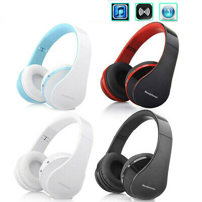 Wireless Bluetooth Headphone (Over the Ear) Stereo Microphone Foldable Ear-Cup