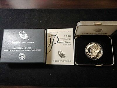 2018 W American Eagle Palladium Proof One Ounce Coin