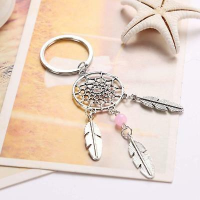 Feather Tassels Pendant Dream Catcher Keyring Key Chain Ring Keychain Bag Purse