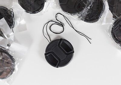 58mm centre pinch snap on lens cap + string Canon Nikon dslr 18-55 + more