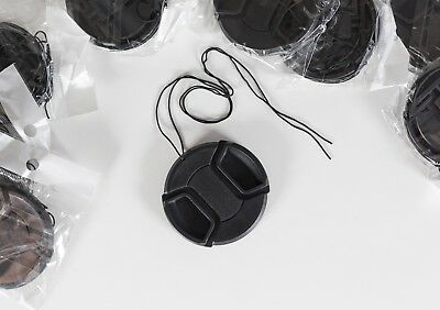 77mm centre pinch snap on lens cap string Canon Nikon high quality fast delivery