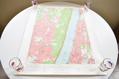 """US Department Interior Geological Survey Yonkers NJ NY Map 1956 Vintage 22x27"""""""
