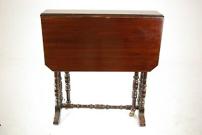 Antique Victorian Table, Antique Drop Leaf Walnut Table, Sutherland Table, B1328