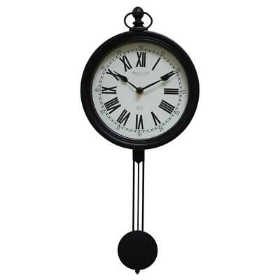 Pendulum Wall Clock Modern Home Hanging Decor Vintage Retro Metal Battery Gift