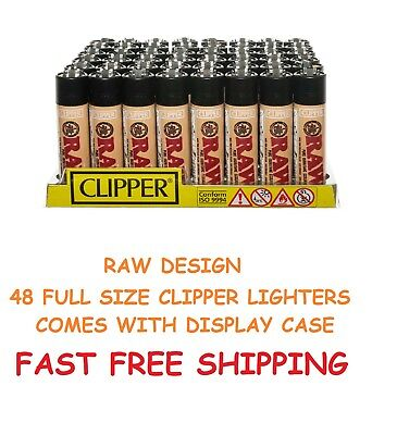 48 Full Size CLIPPER Refillable Lighters AUTHENTIC RAW ECO CIGARETTE LIGHTER