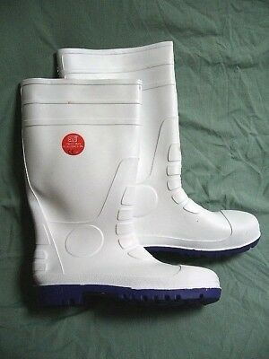 ST Footwear Wellington Boots 46 / 12 White Protective Safety Footwear 91100