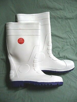 ST Footwear Wellington Boots 47 / 12 White Protective Safety Footwear 91100