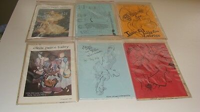 Lot of 6 Vintage Elinor Peace Bailey Doll Patterns
