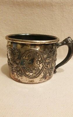 Vintage Silver baby cup, By Apollo Silver Co, Quadruple Silverplate